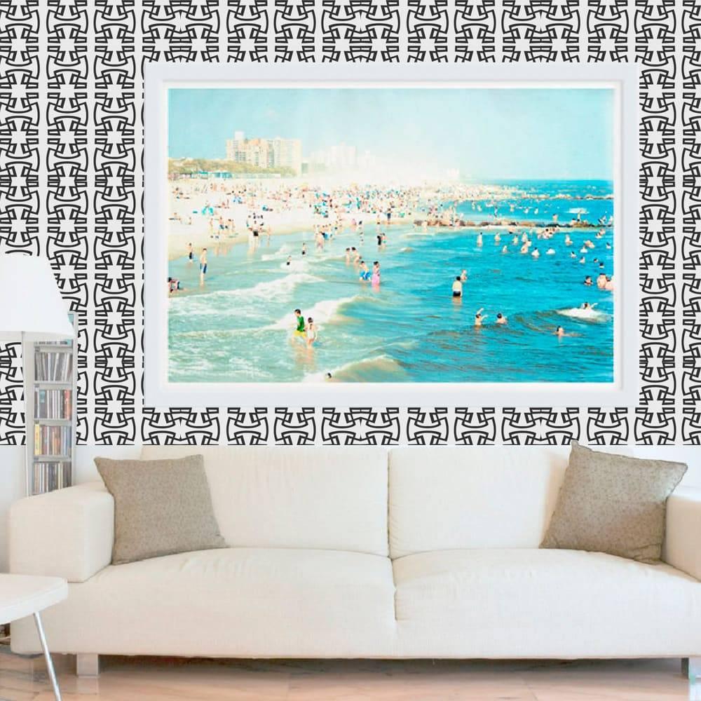 Papel de Parede Autocolante SA005 Branco e Preto - 420x53 cm
