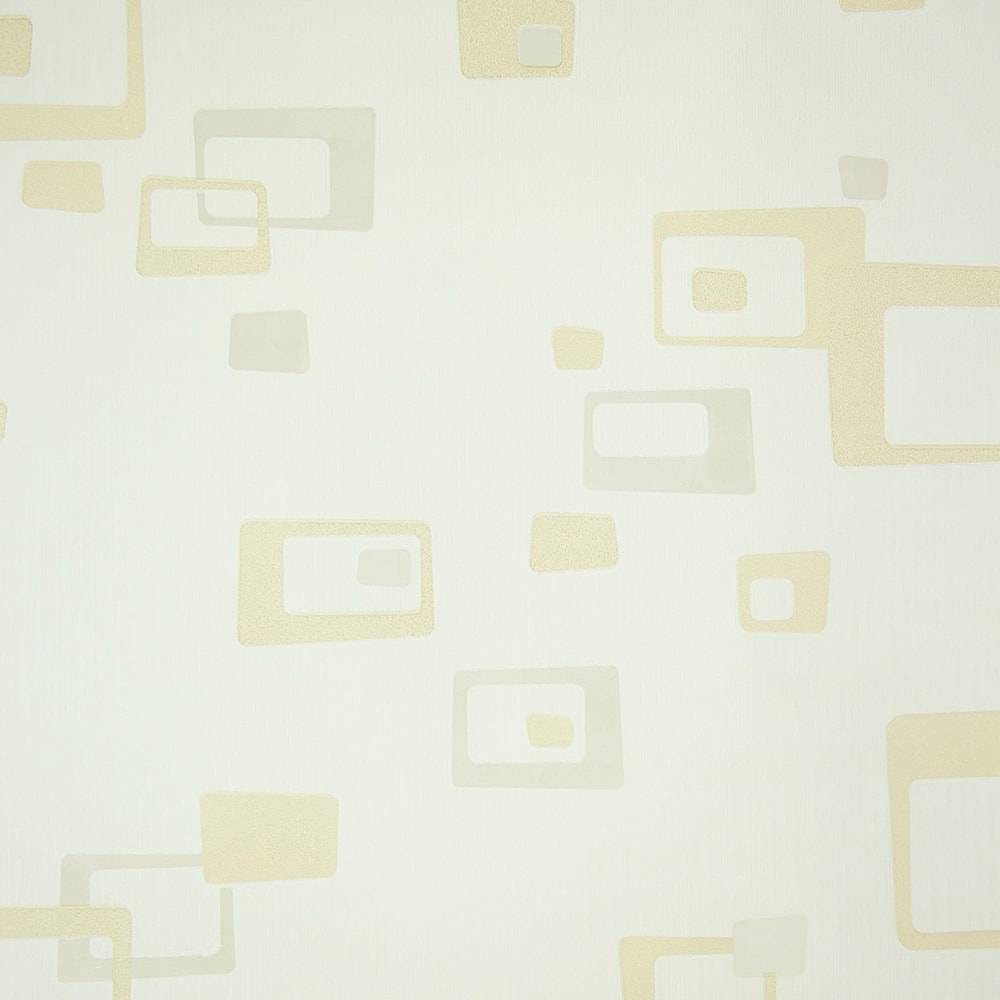 Papel de Parede Importado Vinílico Lavável Bege c/ Textura Dourada - 10x0,53 m