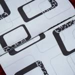 Papel de Parede Vinílico Branco c/ Textura de Elos