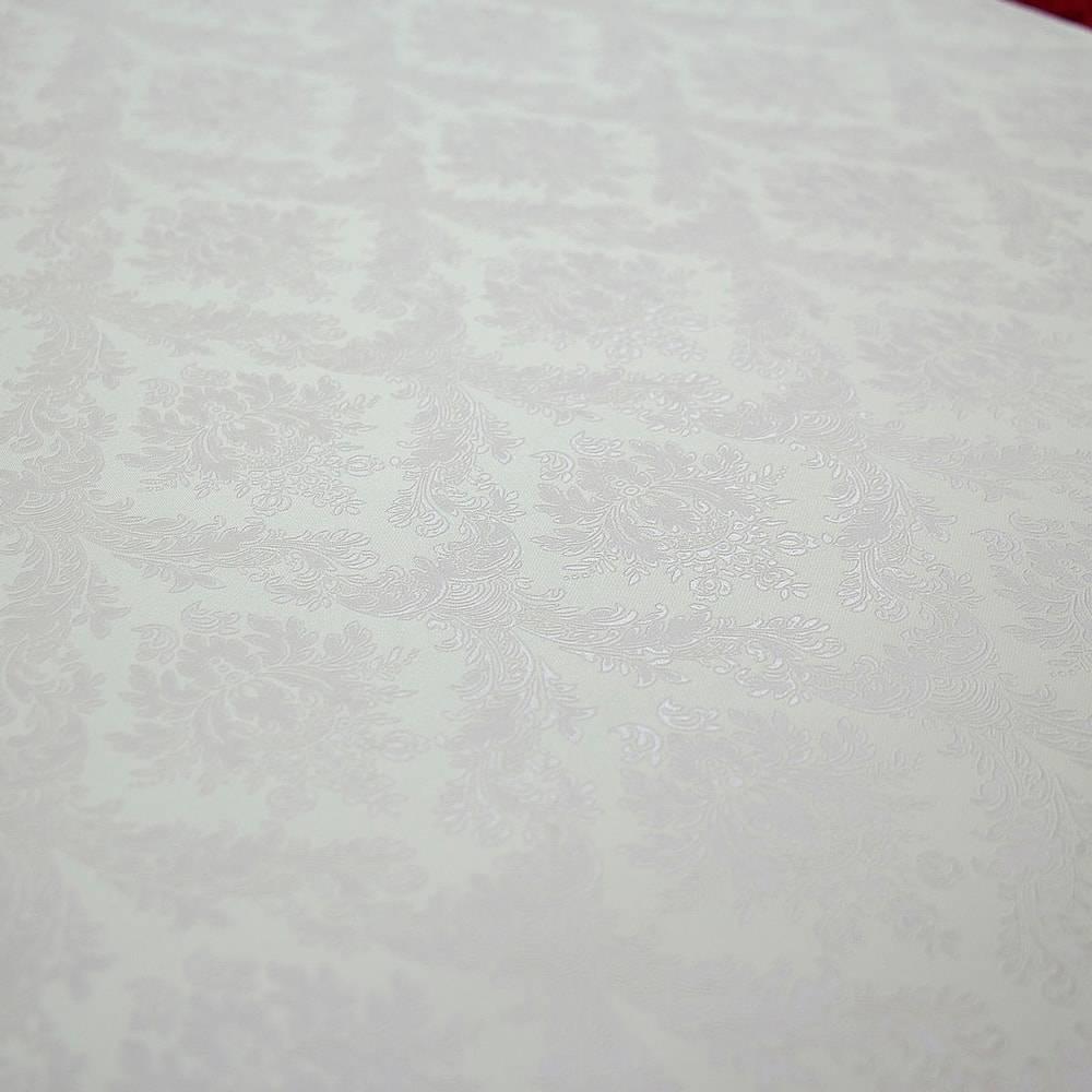 Papel de Parede Importado Vinílico Lavável c/ Textura de Arabescos Perolado Levemente Lilás - 10x0,53 m