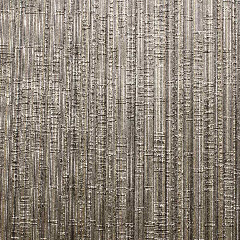 Papel de Parede Importado Vinílico Lavável c/ Textura Cinza e Dourado - 10x0,53 m