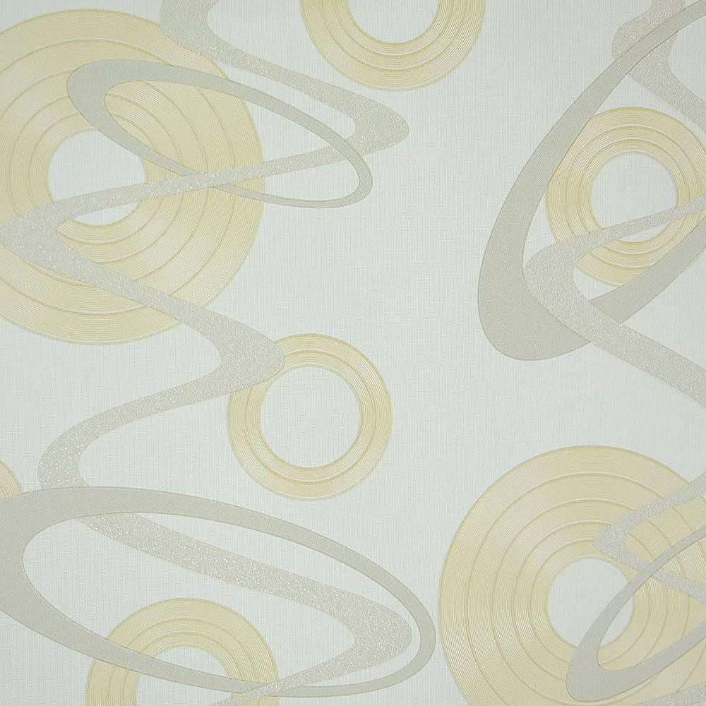 Papel de Parede Importado Vinílico Lavável c/ Textura Geométrica em Bege e Cinza - 10x0,53 m