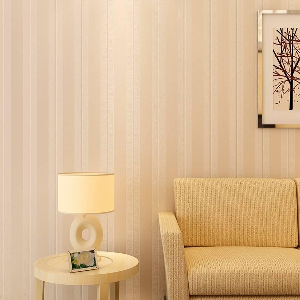 Papel de Parede Importado Vinílico Lavável c/ Textura de Listras Marrom e Dourado - 10x0,53 m