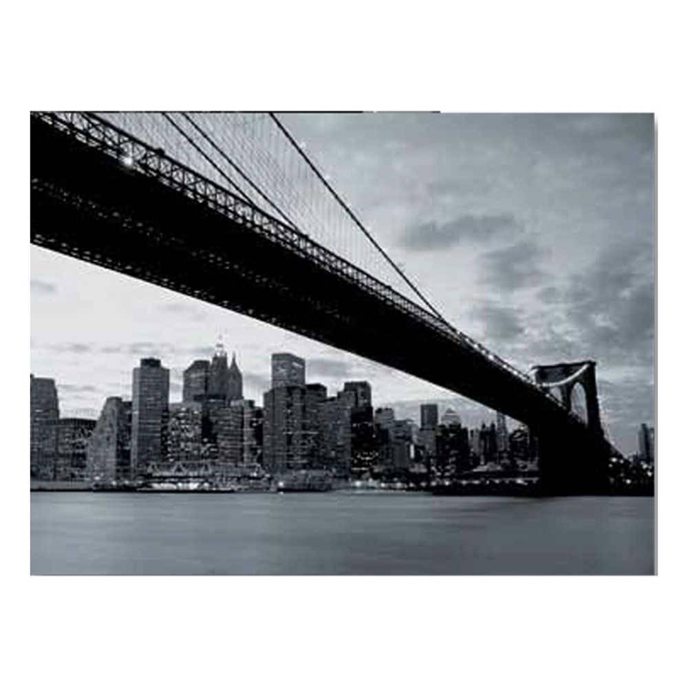 Papel de Parede New York Wallness Preto e Branco - Urban - 315x232 cm