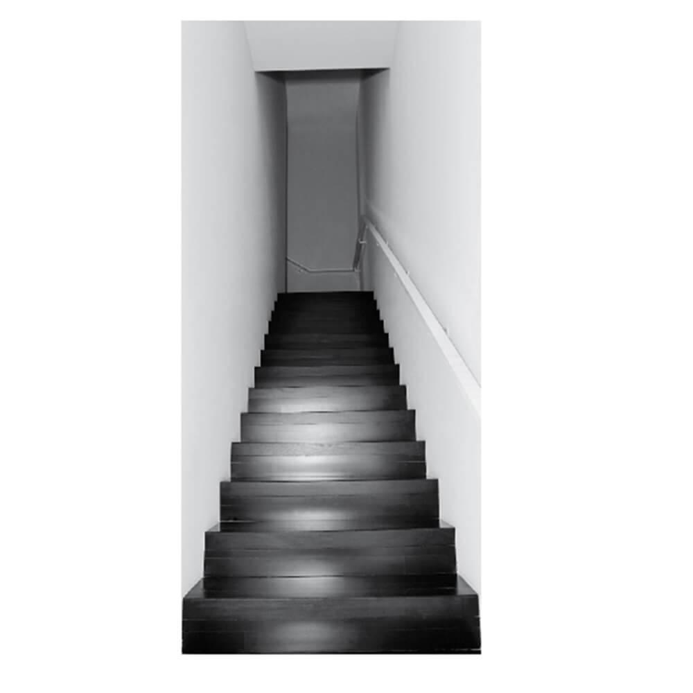 Papel de Parede para Porta Escalator Wallness Preto e Branco - Urban - 210x95 cm