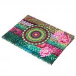 Pastinha Patchwork Colorida Revestida em Tecido - 32x23 cm