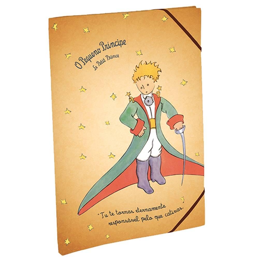 Pastinha Vintage O Pequeno Príncipe Bege em Tecido - 33x24 cm