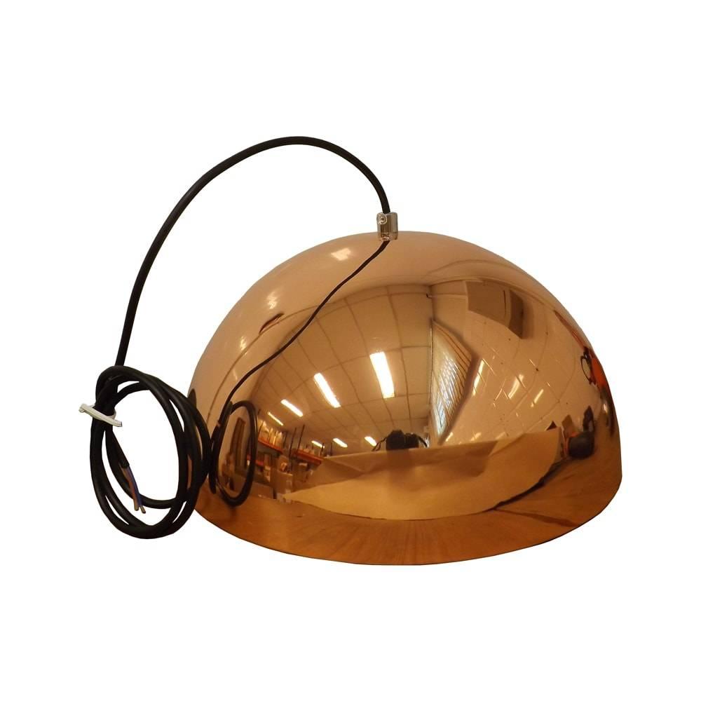 Pendente Athena Cobre c/ Interior Prata em Metal - 30x18 cm