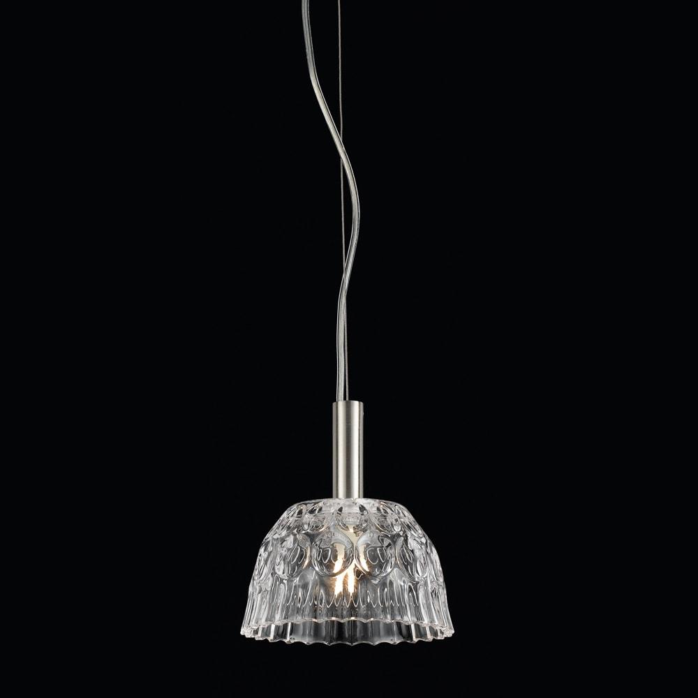 Pendente Bowl Translúcido - Bivolt - Metal e Vidro - 17x15 cm
