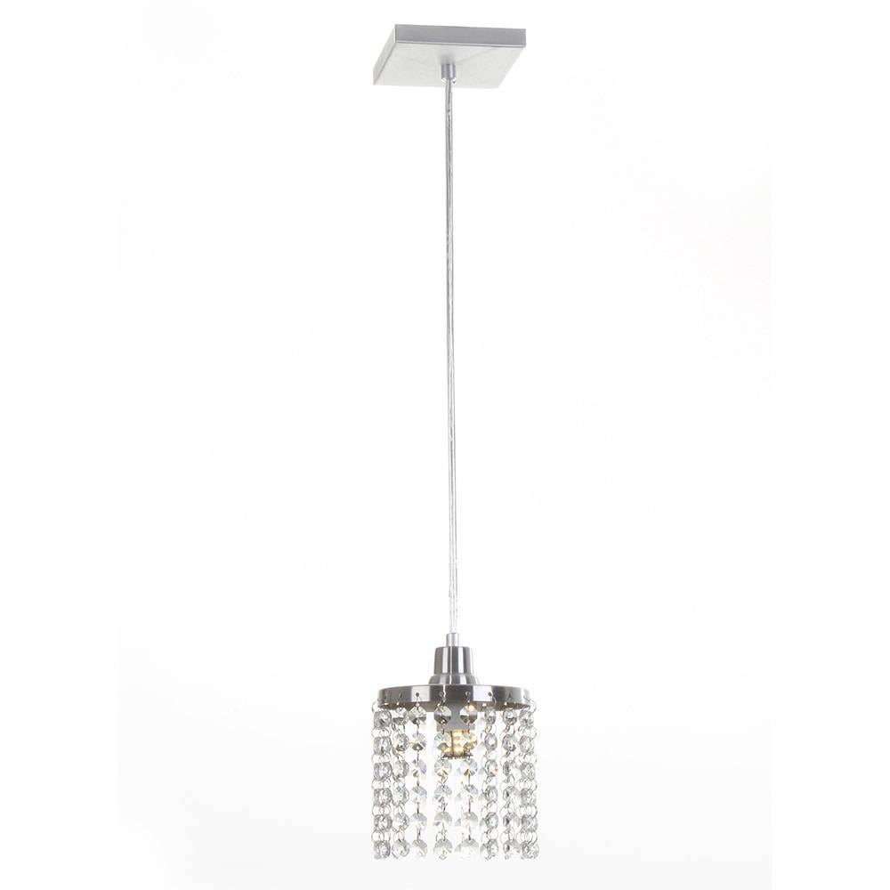 Pendente Cadence - Lâmpada G9 - em Alumínio Escovado e Cristais Importados - 88x13 cm