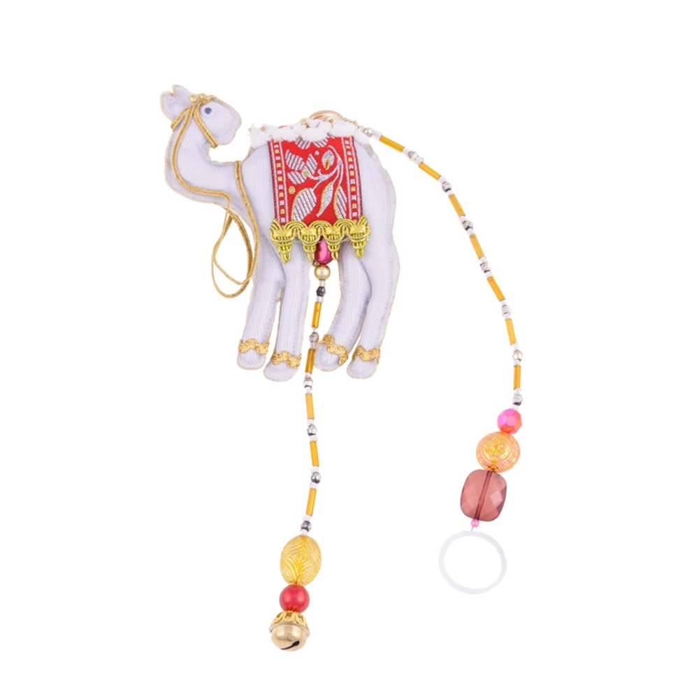 Pendente Camelo Indiano Colorido em Tecido - 56x12 cm