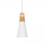 Pendente Cone Branco em Metal - 28x12 cm