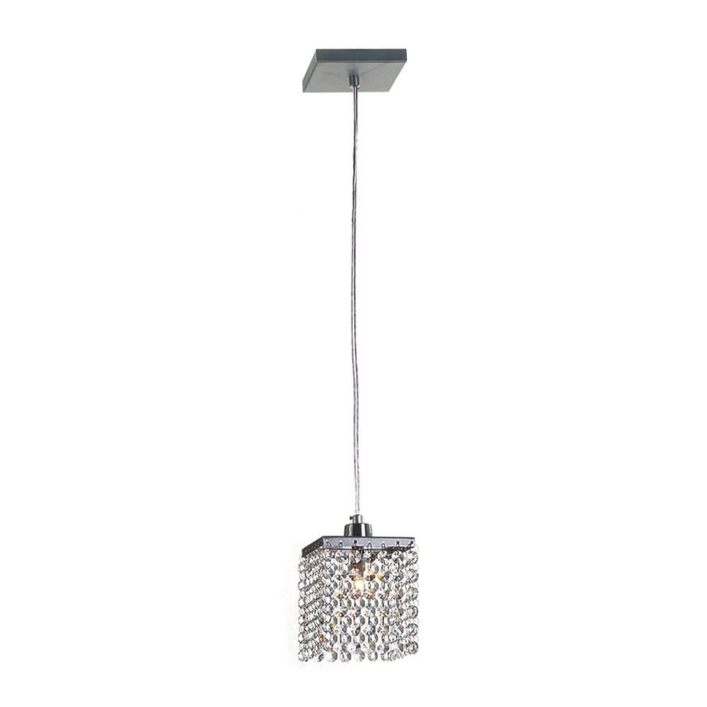 Pendente Cordoba - Lâmpada G9 - em Alumínio Escovado e Cristal Importado - 88x11 cm