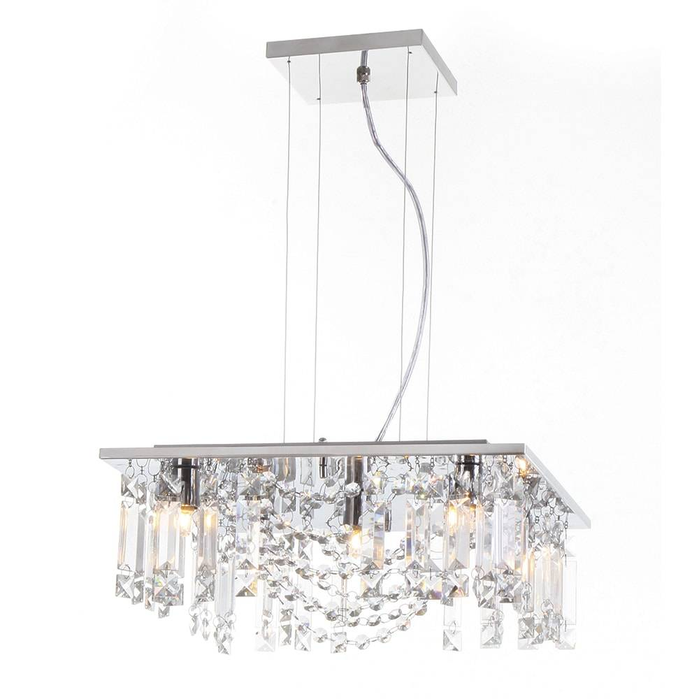 Pendente Eugene - Lâmpadas G9 - em Aço Inox e Cristal Importado - 90x38 cm