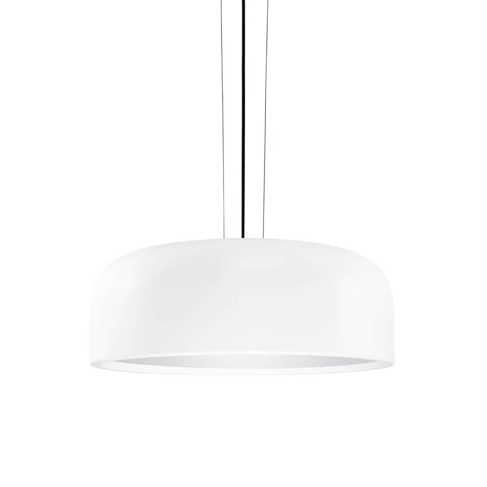 Pendente Fascinium Branco em Metal - 34,5x17 cm