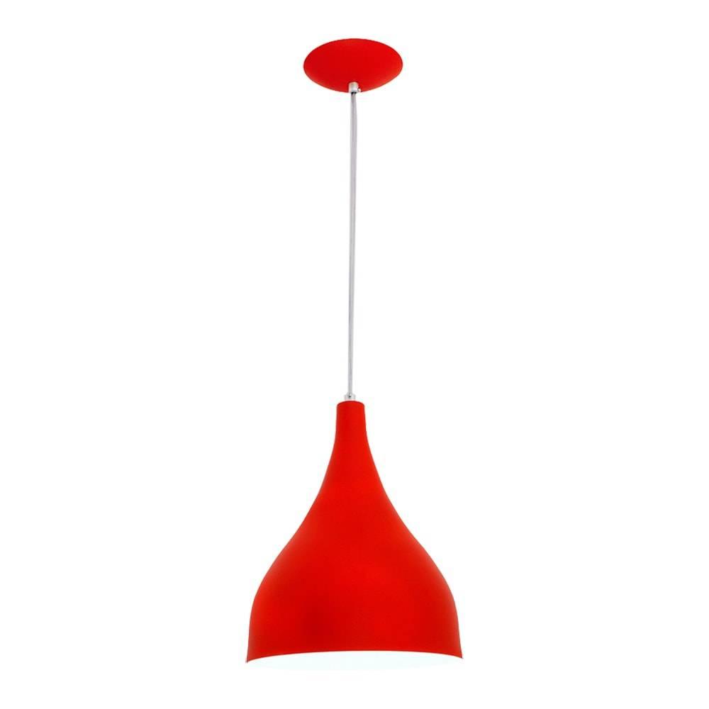 Pendente Ibiza Vermelho em Alumínio - com Haste Regulável - 100x24 cm