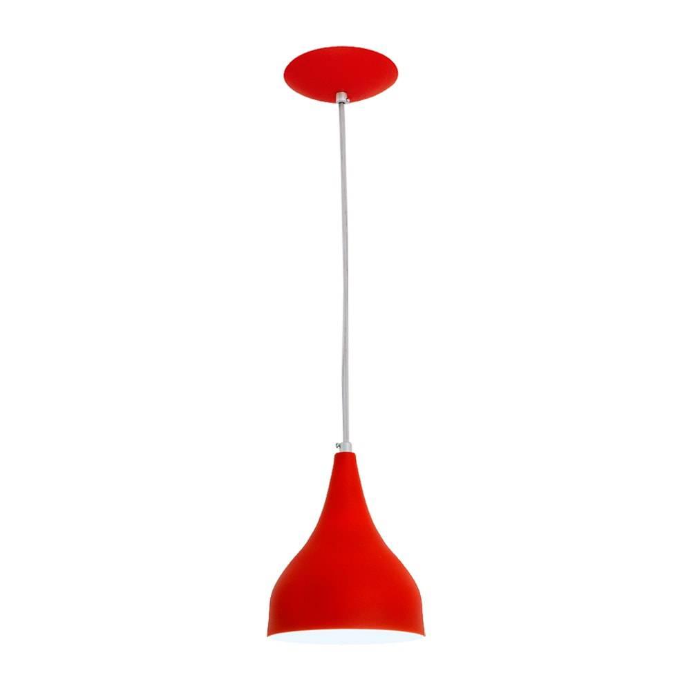 Pendente Ibiza Vermelho em Alumínio - com Haste Regulável - 80x15 cm