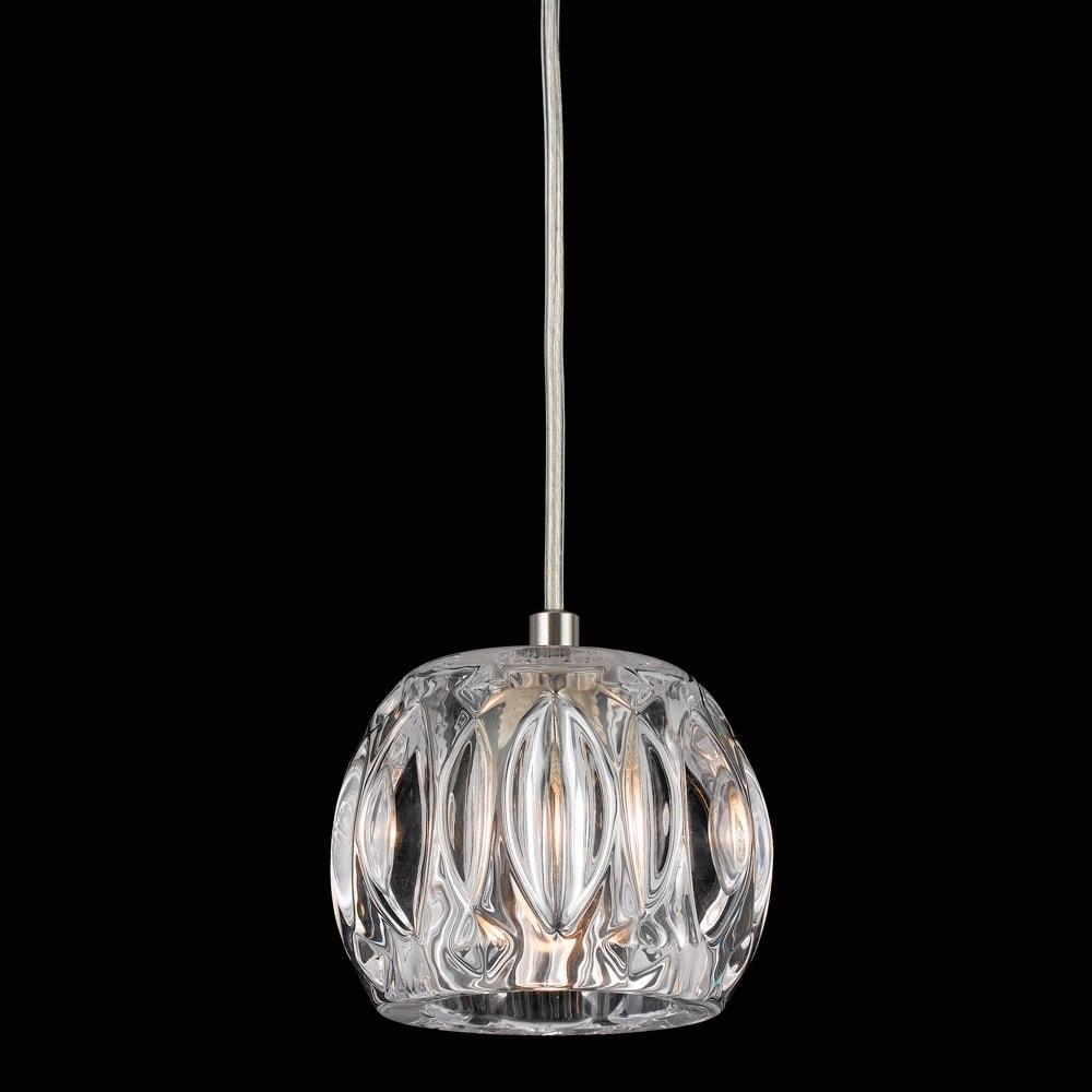 Pendente Illo Translúcido - Bivolt - Metal e Vidro - 110x12 cm