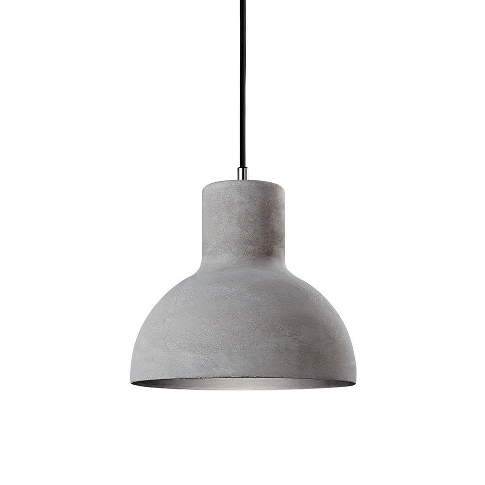 Pendente Industrial em Cimento com Interior em Alumínio - 22,5x22 cm