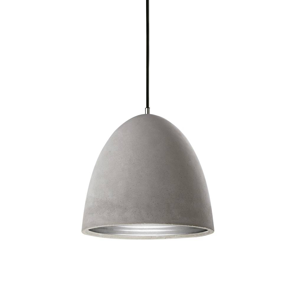Pendente Industrial Grande em Cimento c/ Interior em Alumínio - 38x38 cm