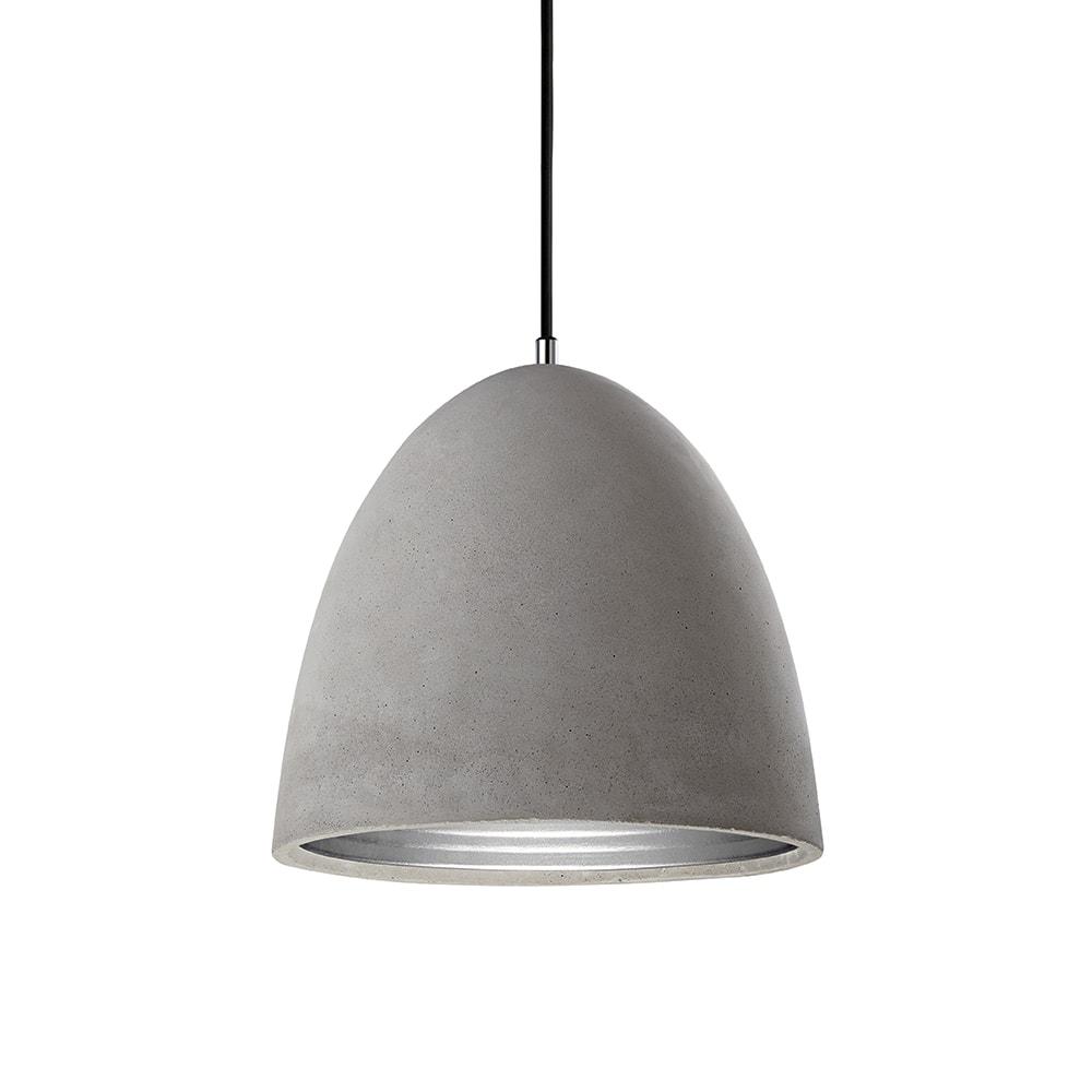 Pendente Industrial Médio em Cimento com Interior em Alumínio - 30x30 cm