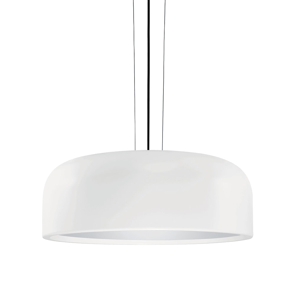 Pendente Lux Decor Branco em Metal - 48,5x20 cm