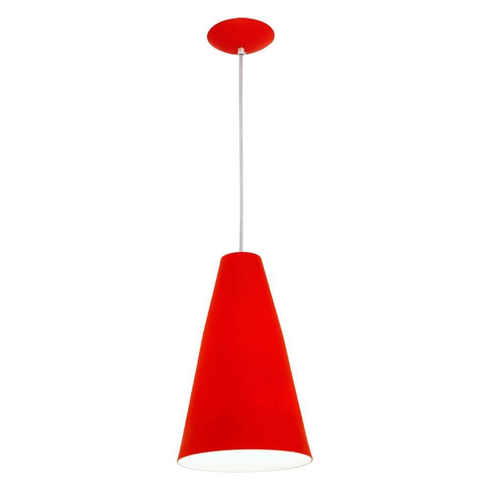 Pendente Madri Vermelho em Alumínio - com Haste Regulável - 100x21 cm