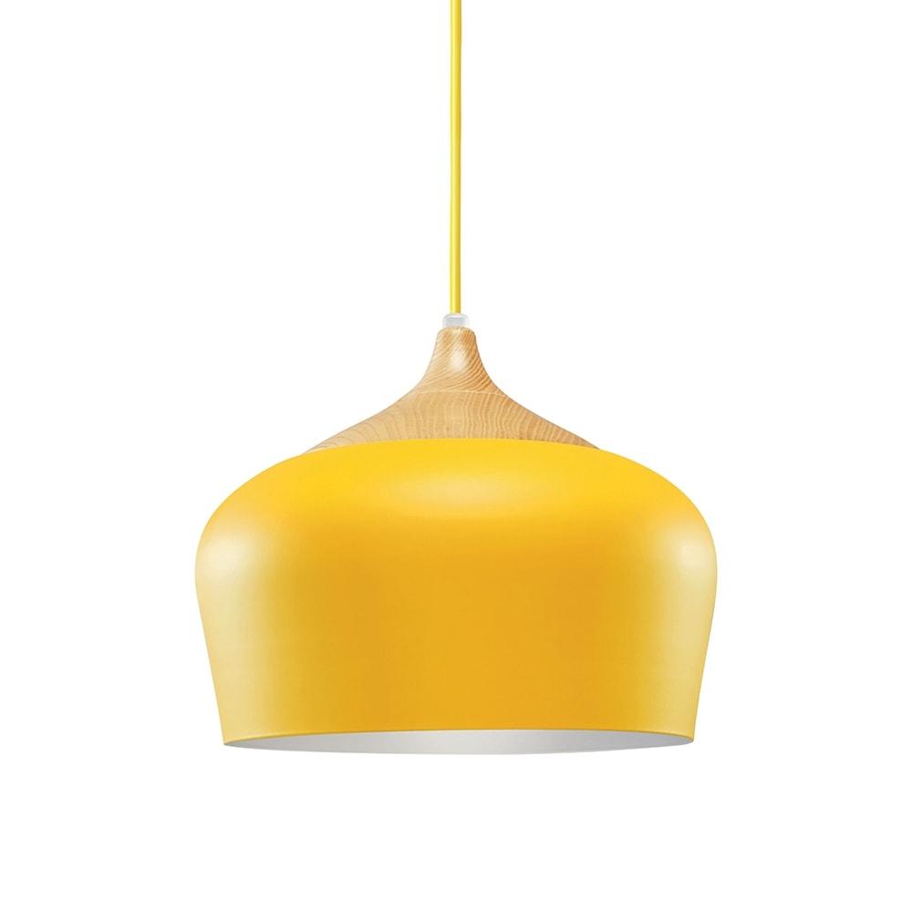 Pendente Magic Amarelo em Metal - 30x25 cm