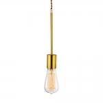 Pendente Milla com Soquete Dourado em Metal - 27,5x5 cm