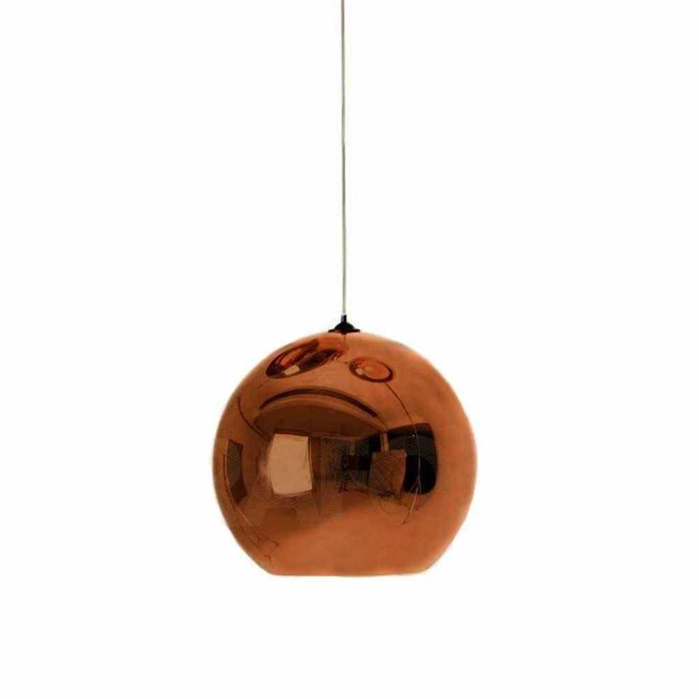 Pendente Orbe Bronze em Vidro - 90x30 cm