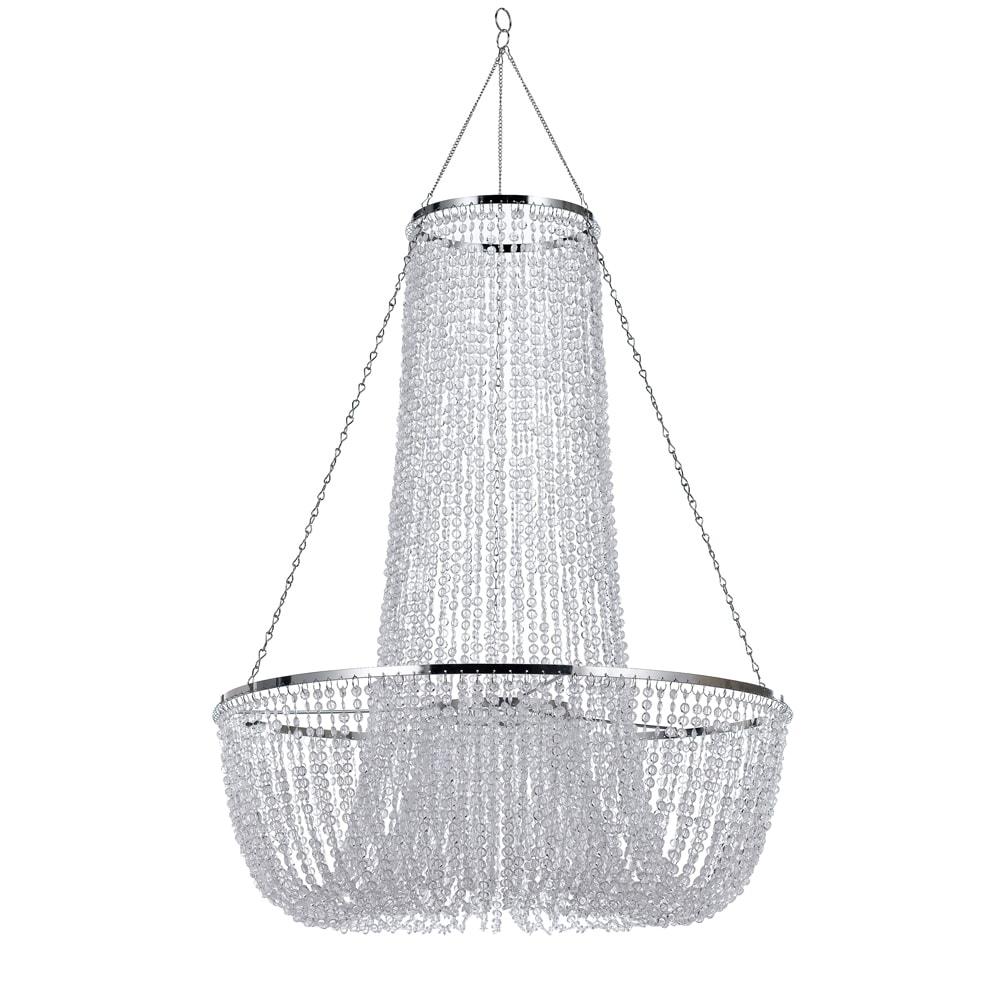 Pendente Pagnare Translúcido - Bivolt - em Metal e Acrílico - 78x60 cm