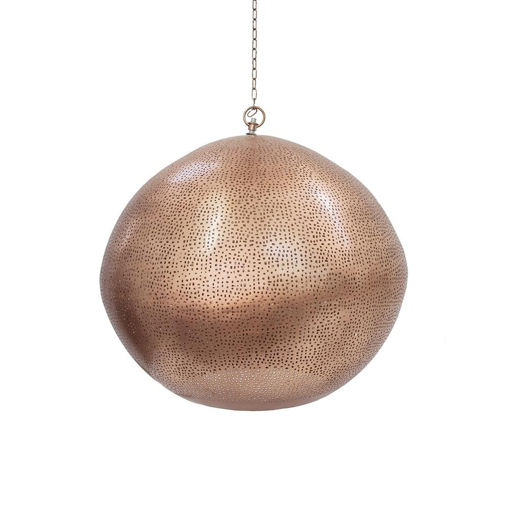 Pendente Party Globe Cobre Grande em Alumínio - 50x45 cm