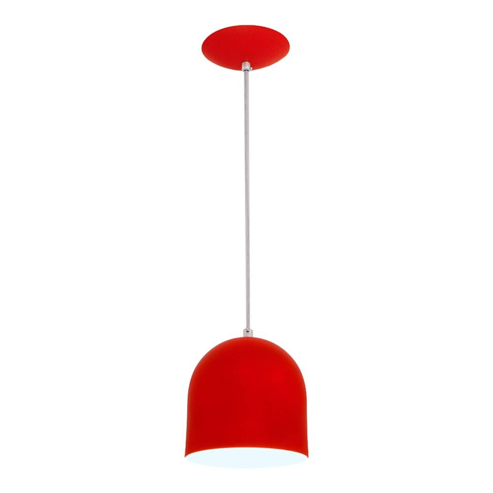 Pendente Sevilha Vermelho em Alumínio - com Haste Regulável - 80x15 cm