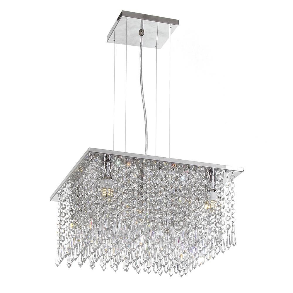 Pendente Sophie - Lâmpadas G9 - em Aço Inox e Cristal Importado - 90x38 cm