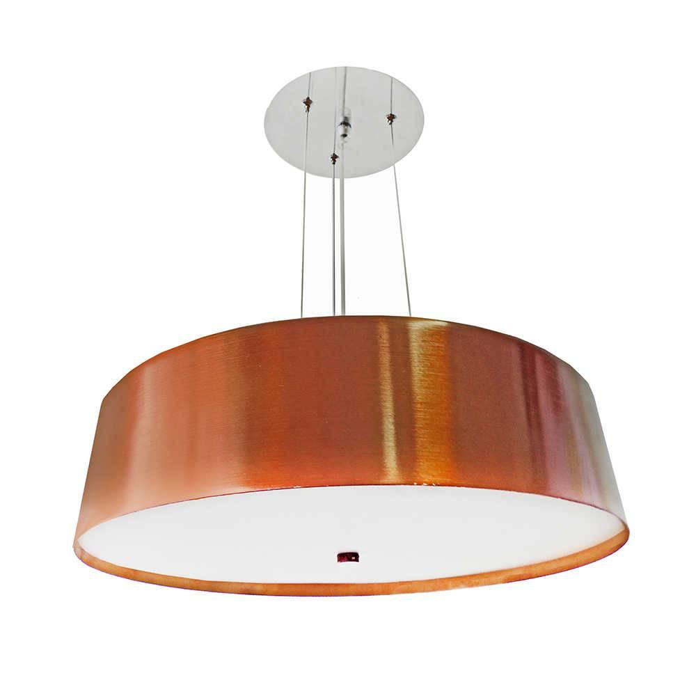 Pendente Spin Bronze com Interior Branco em Alumínio - 109x35 cm