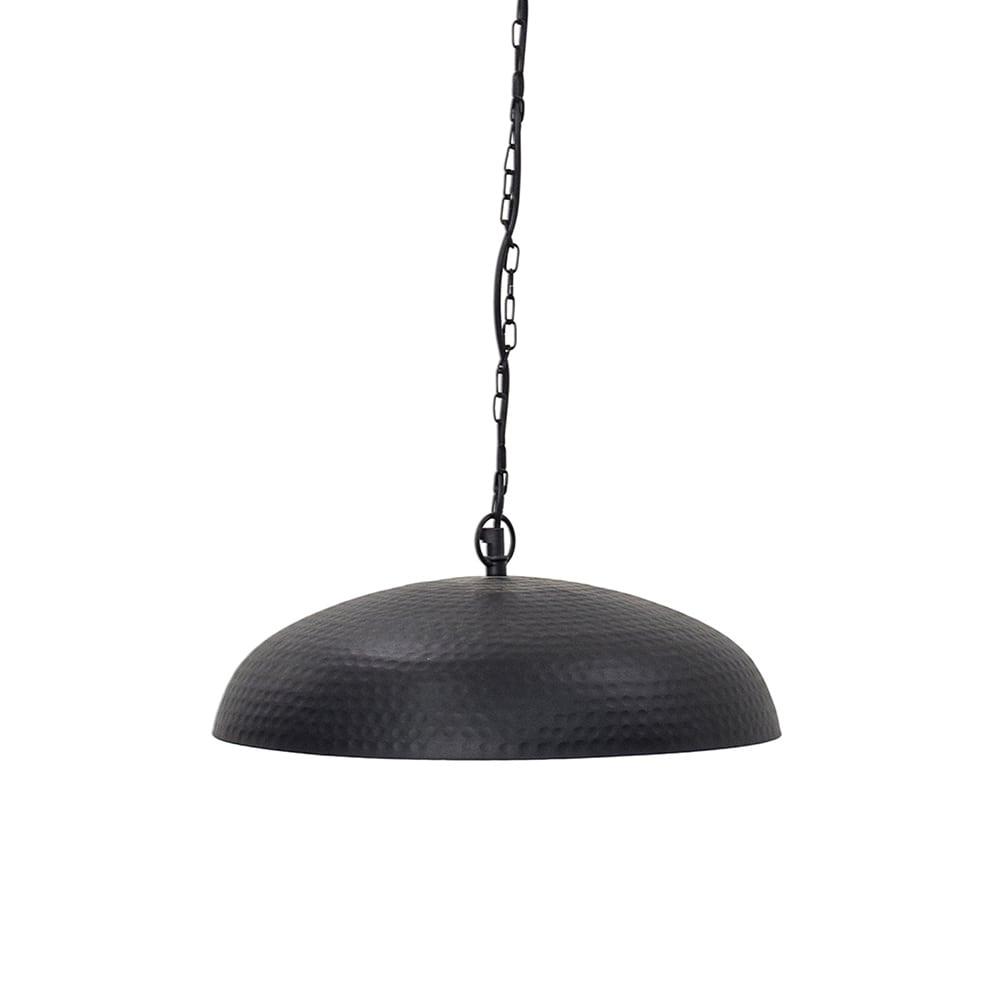 Pendente Tonnet Preto Pequeno em Ferro - 37x10 cm