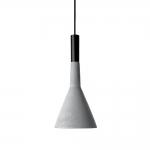 Pendente Trombeta Cinza em Cimento - 34x15 cm