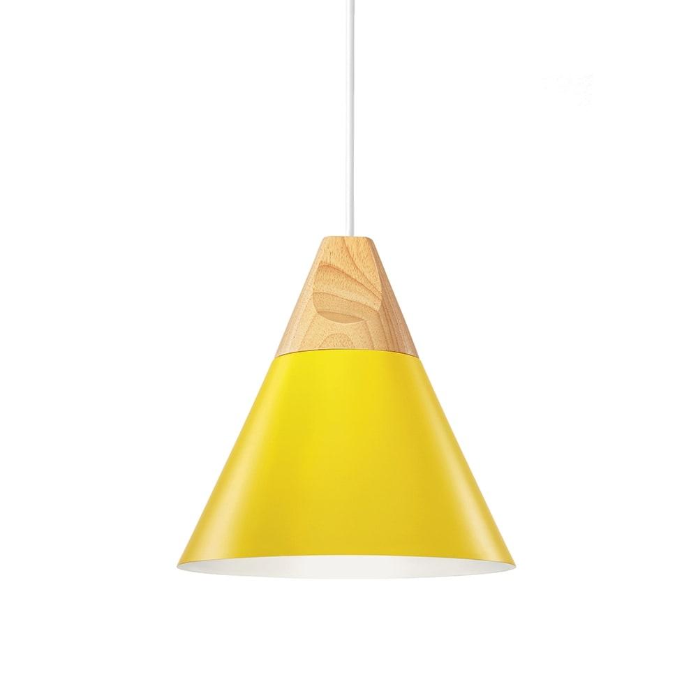 Pendente Vivence Amarelo em Metal - 22x22 cm