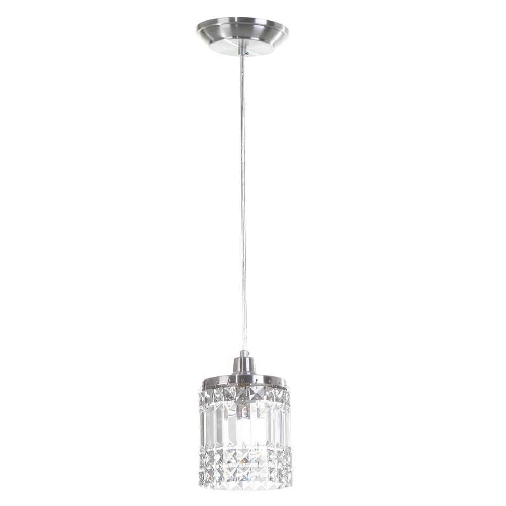 Pendente York - Lâmpadas G9 - em Alumínio Escovado e Cristal Importado - 88x13 cm