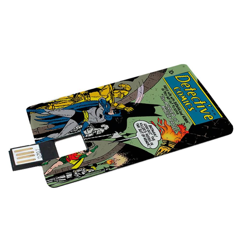 Pendrive Flat DC Comics Detective Batman 2GB - Urban - 8,5x5,4 cm
