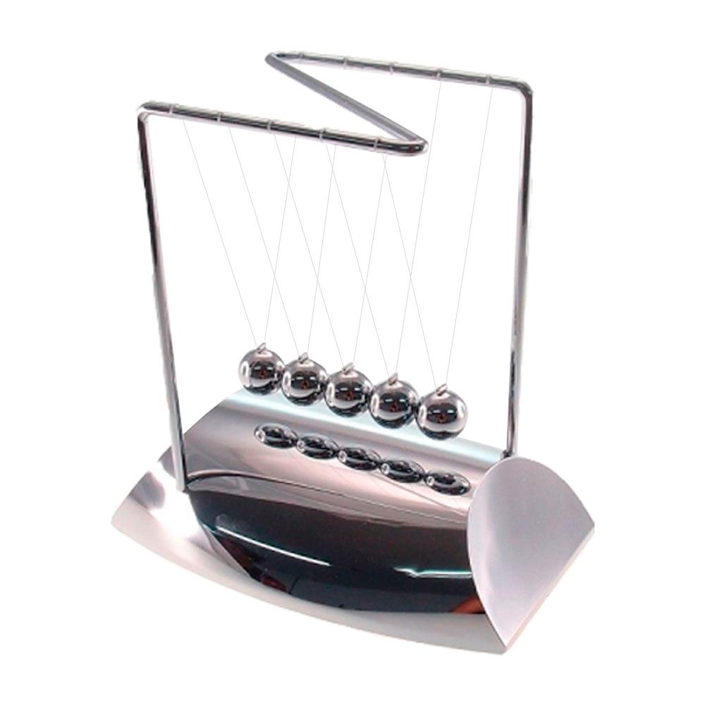 Pêndulo de Newton Prata em Metal - 19x18 cm