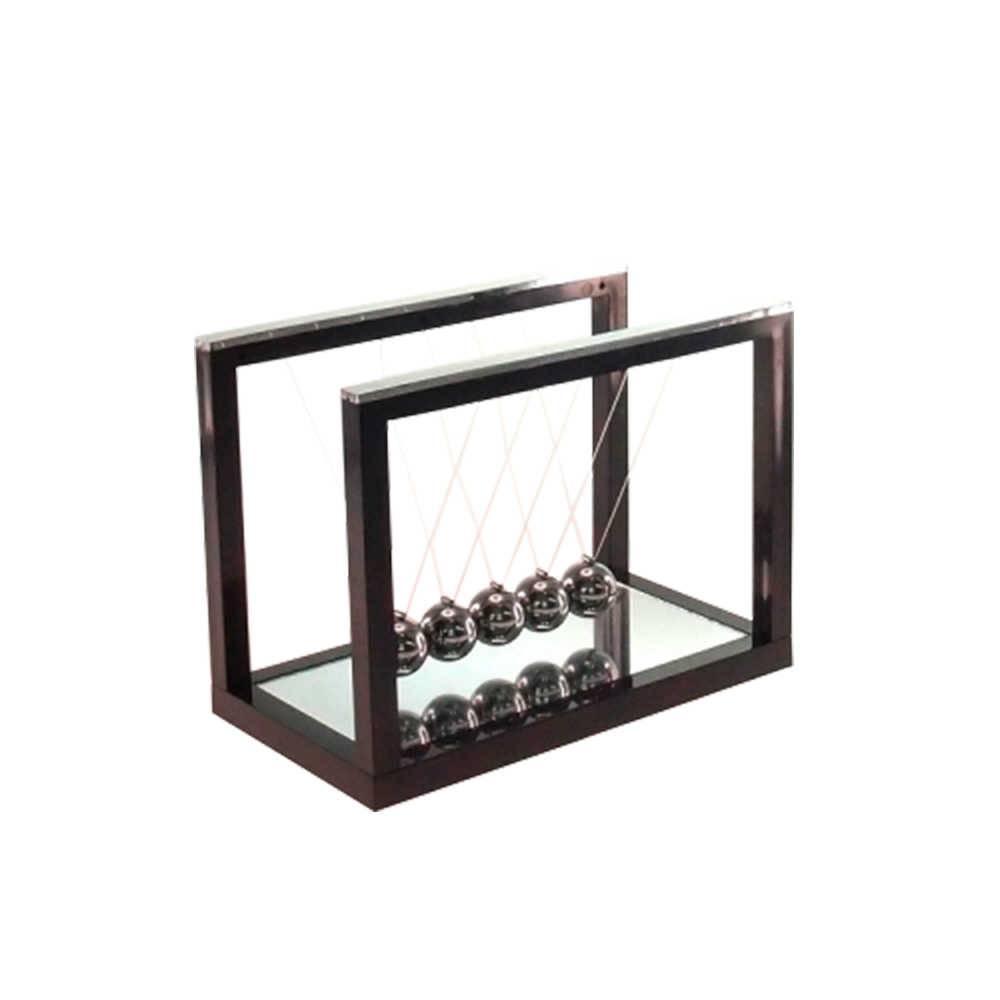 Pêndulo Preto com Base Espelhada - 16x12 cm
