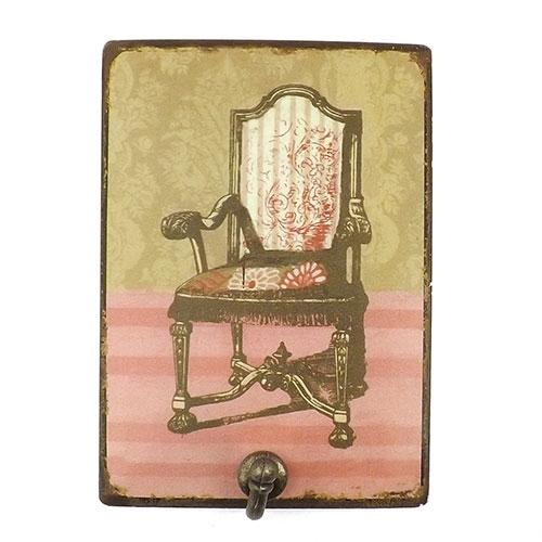 Pendurador / Cabideiro - Cadeira - 1 (Um) Gancho - Metal - 15x20 cm