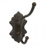 Pendurador para Casacos Preto em Metal - 27x19 cm