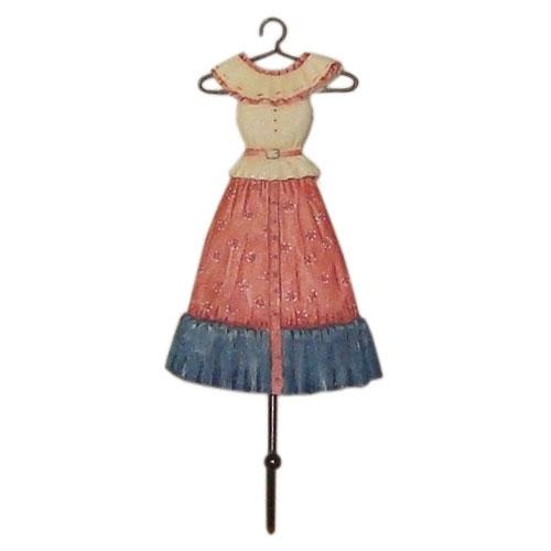 Pendurador Dress D em Resina - 20x10 cm