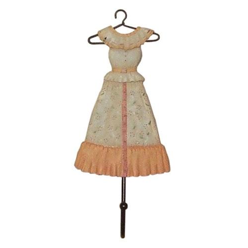 Pendurador Dress E em Resina - 20x10 cm