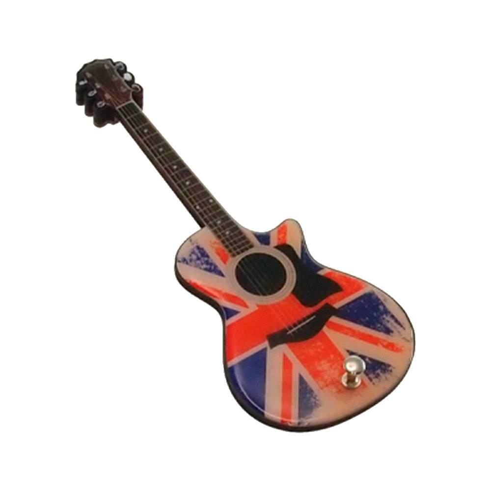Pendurador Guitarra UK Envelhecidaem MDF - 25x10 cm