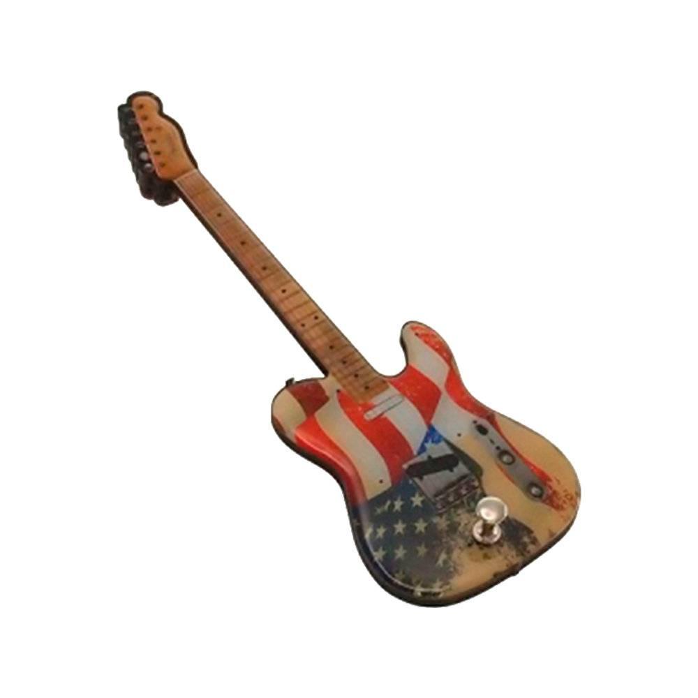Pendurador Guitarra USA Envelhecida em MDF - 25x10 cm