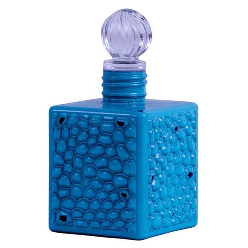Perfumeira Antique Blue Quadrado em Vidro - 14x7 cm