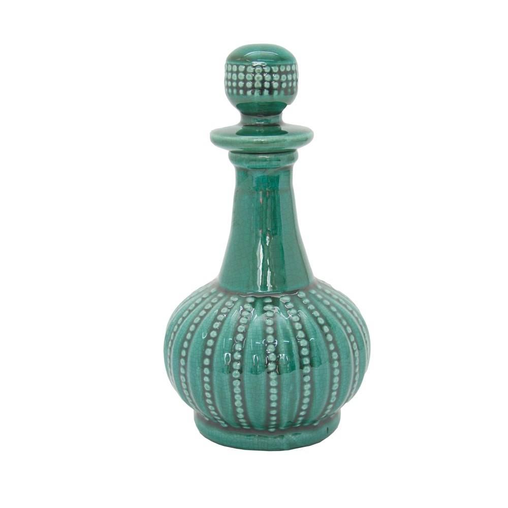 Perfumeiro Mercia Verde em Cerâmica - 22x10 cm